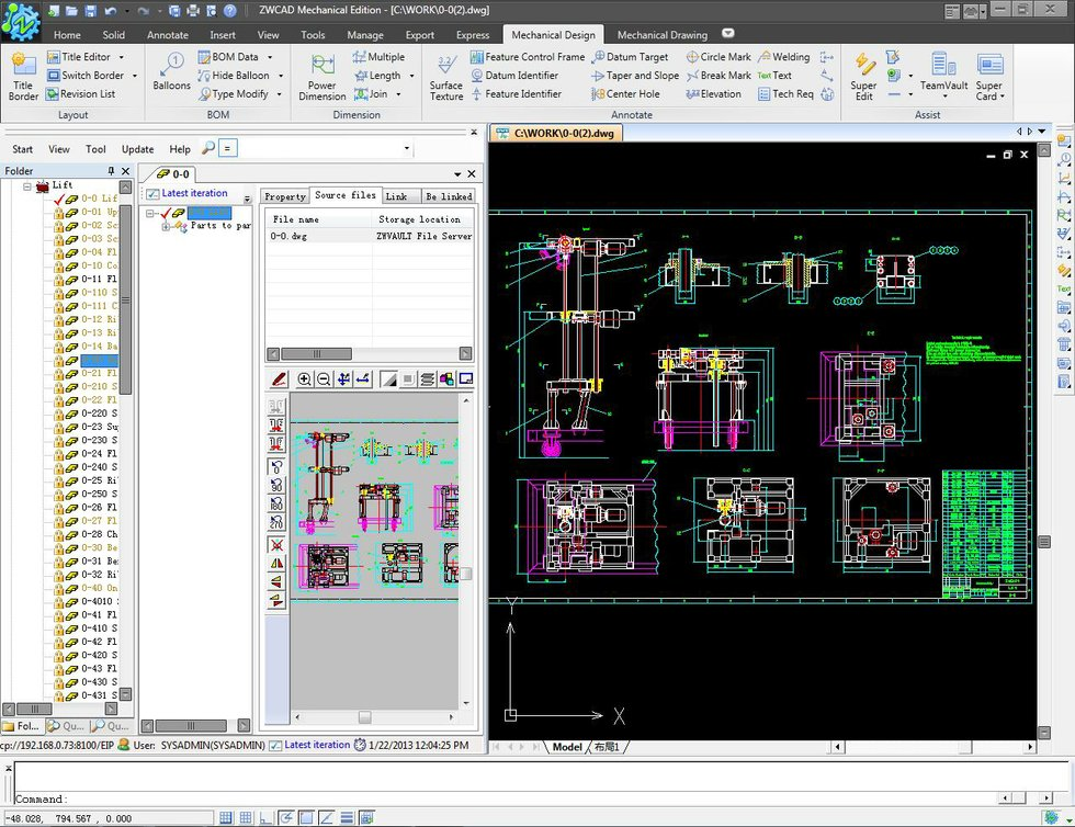 Zwcad mechanical 2012 sp1 makes complex cad designs easy Simple cad software