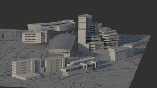 A render of the University of Huddersfield campus