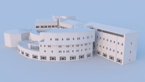 A render of the University of Huddersfield Business School