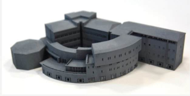 And the 3D Print of the Business School made with an EOS Formiga P110 machine