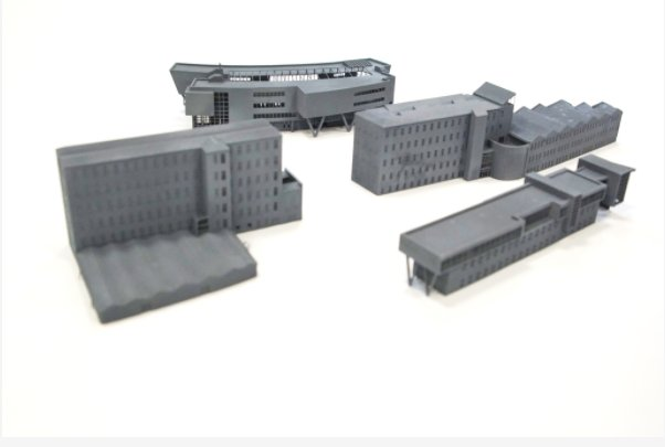 3D Prints of some of the University of Huddersfield buildings