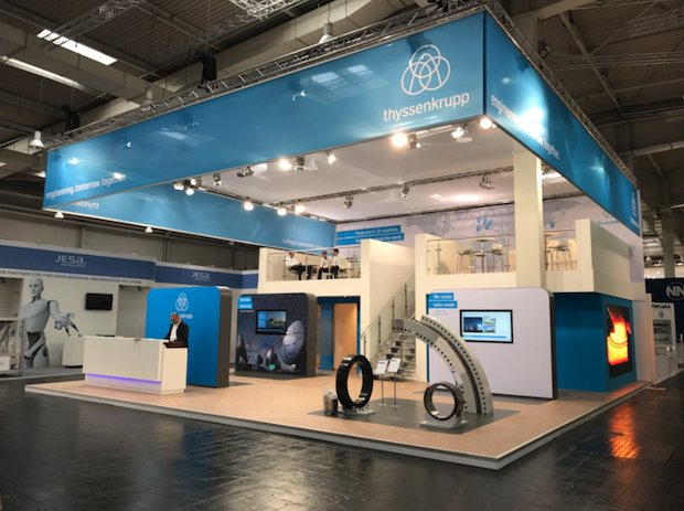 Thyssenkrupp's stand from Hannover Messe 2017