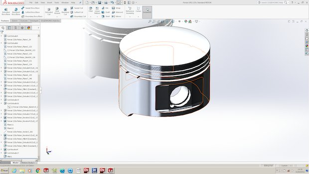Redesign Sports RSL ferrari Piston CADMODEL