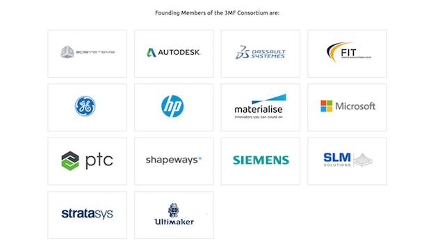 3MF Consortium Founding Members pre-EOS