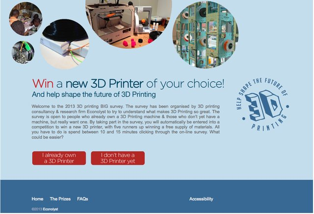 Big 3D printing survey h/p