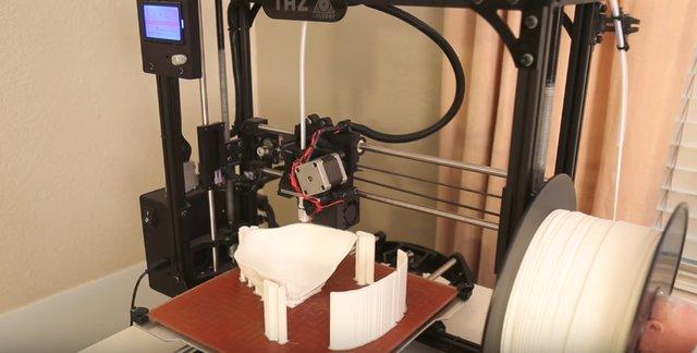 Lulzbot Taz 5 making the moulds for Hyperflesh's masks