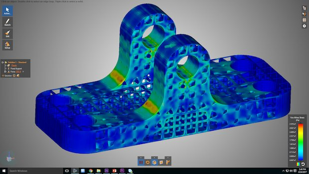 ANSYS Discovery Live structural analysis of lattice structure