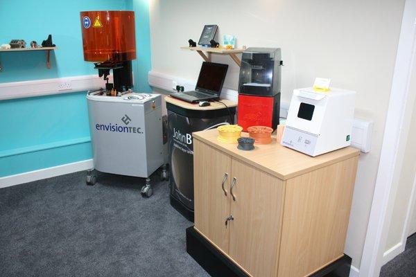 John Burn 3D printing studio