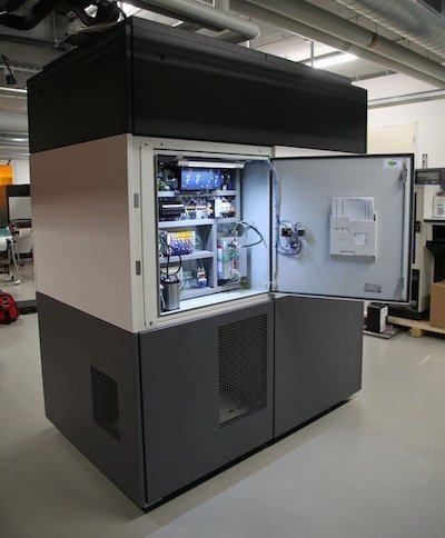 Aurora Large frame machine with door open