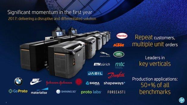 HP MJF customers