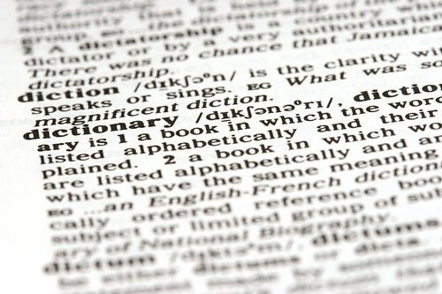 dictionary image terminology words
