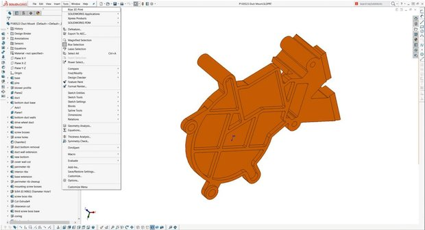 SOLIDWORKS Rize add-in
