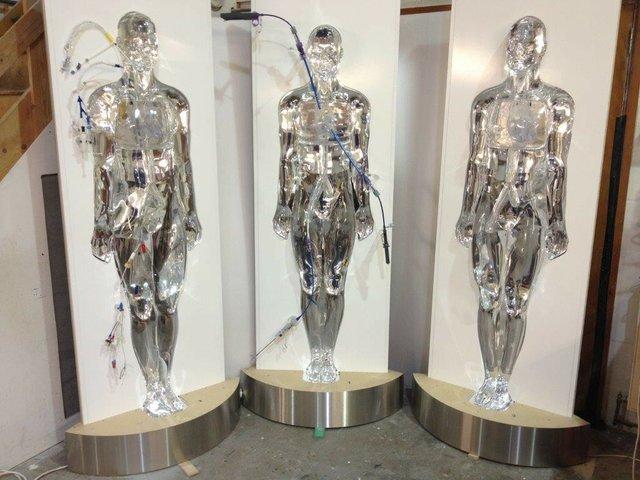 3 Life Size Acrylic Men