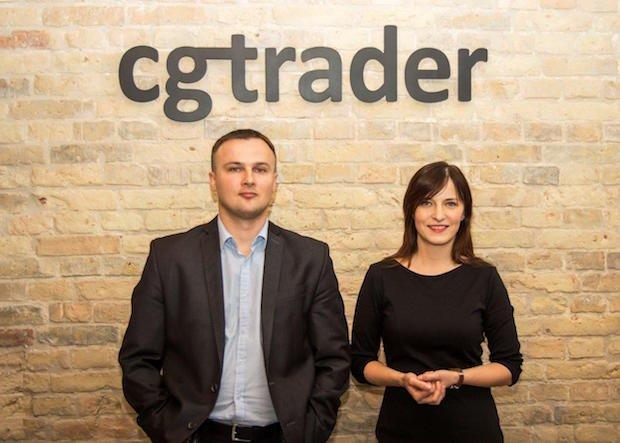 CGTrader founders- Marius Kalytis and Dalia Lasaite