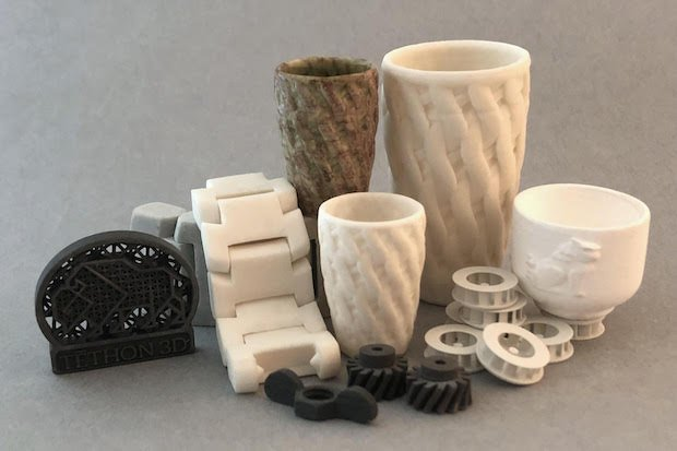 Tethon3D ceramic and metal parts