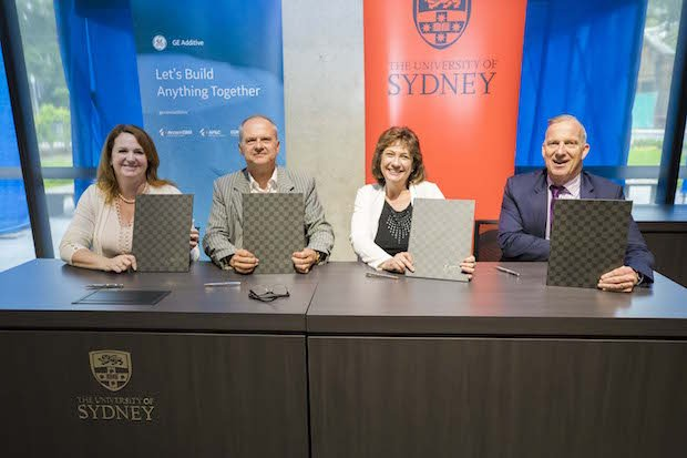 GE Additive x University Sydney MoU