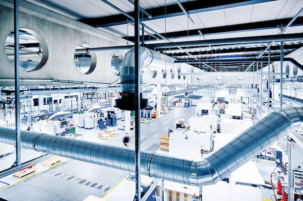 EOS manufacturing site in Maisach, Germany.