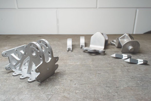 DMLS parts produced by 3D Hubs.
