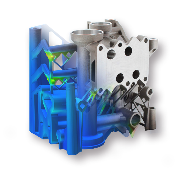 Additively manufactured manifold – simulation versus real part