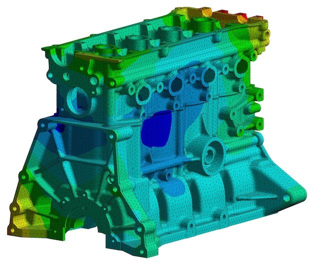 ANSYS engine block simulation with credit