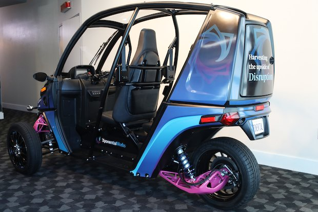 Arcimoto's Fun Utility Vehicle with generatively designed components.