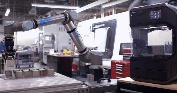 All Axis Robotics dual gripper application.  MakerBot