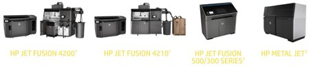 An example of our product lines for sales and service bureau use – HP, Shining 3D, Ultimaker.  30 HP Jet Fusion printers, EOS metal printers, and many others.