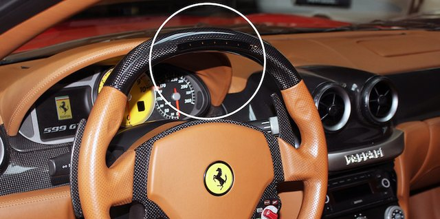 Ferrari 599 steering wheel diodes cover produced on the Zortrax Inkspire.