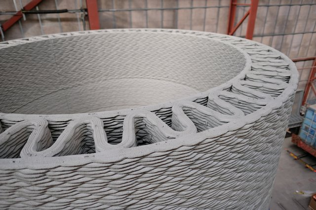 GERenewableEnergy 3D printed turbine tower base.JPG