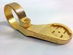 Gold-plated plastic mount for Garmin Edge 500