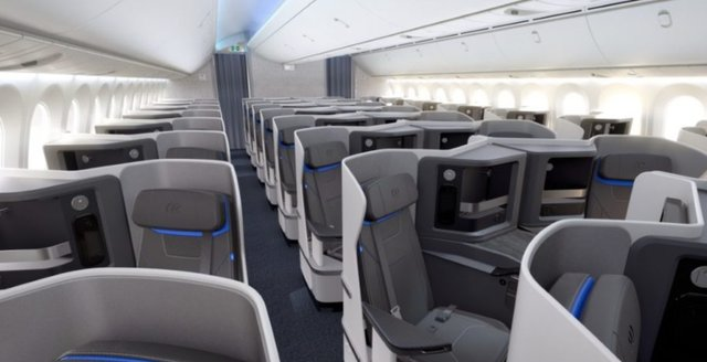 A render of a first class cabin designed and manufactured by Jamco for a global airline.png