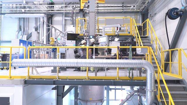 Inside Sandvik's titanium powder plant in Sandviken, Sweden.