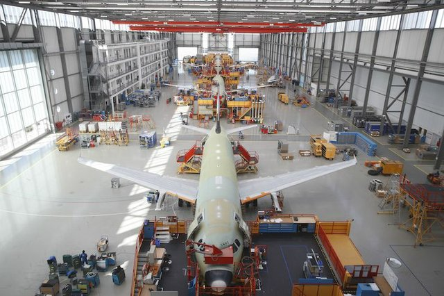 Airbus A320 production facility.