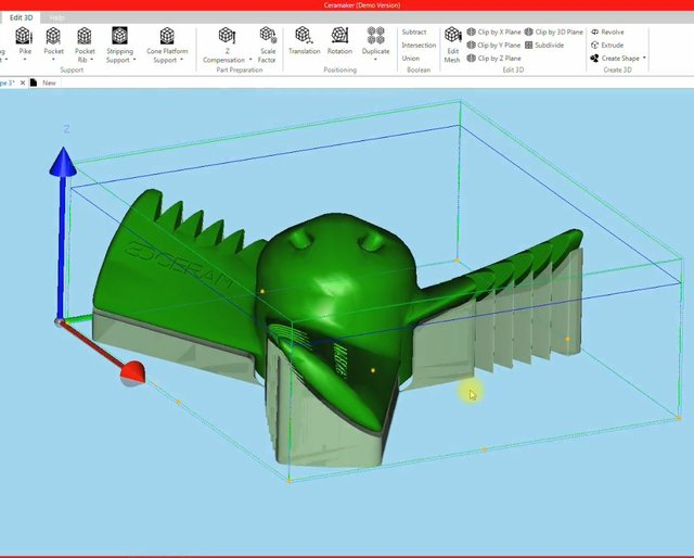Plug In Build-It by 3DCeram a user friendly interface to print supports