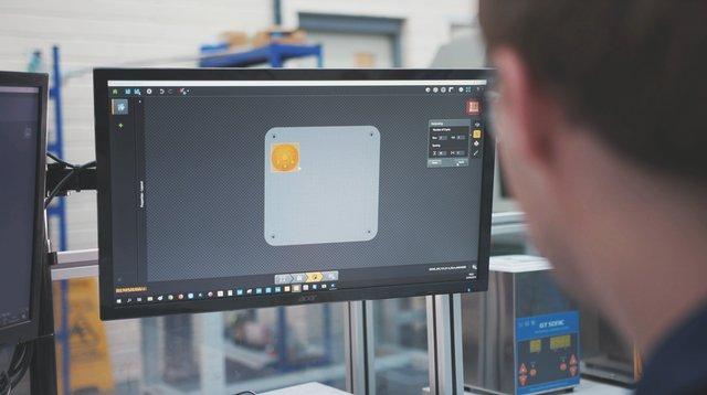 3D print file generated using QuantAM