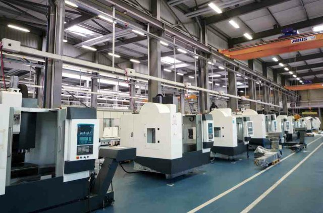 Huron production line fitted with Blum probe systems