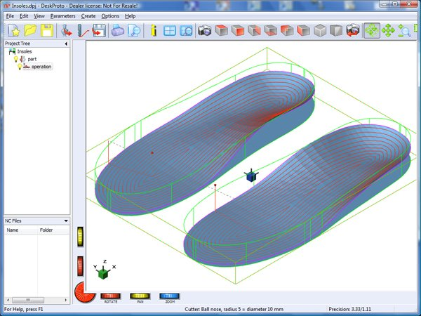Offset machining in DeskProto 6.1