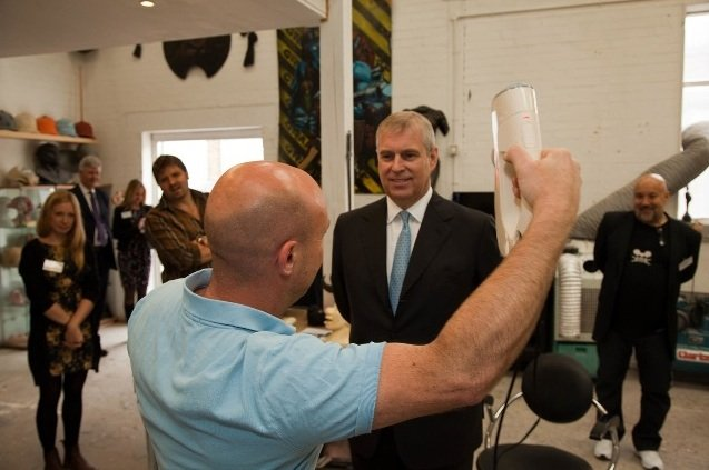 Prince Andrew being scanned by Artec Eva