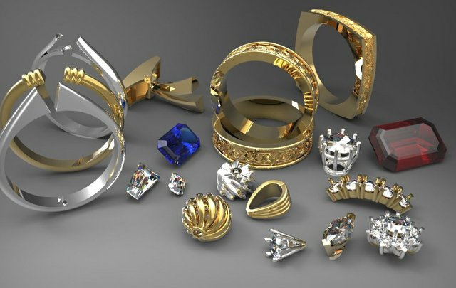 Delcam jewellery renders