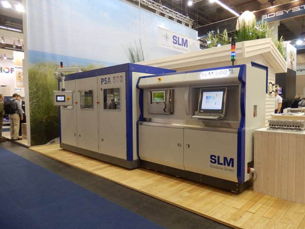 SLM Solutions' PSA 500 on Booth