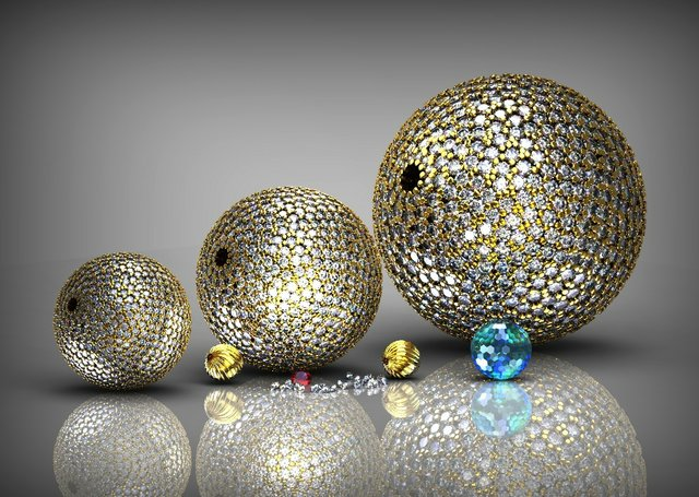 Delcam diamond beads