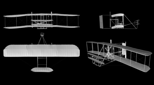Smithsonian 3D scanned Wright Flyer
