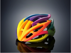 Colour 3D printed helmet