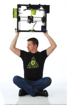 LulzBot TAZ 3D Desktop Printer with heated bed is capable of printing upside down, with a multitude of materials.