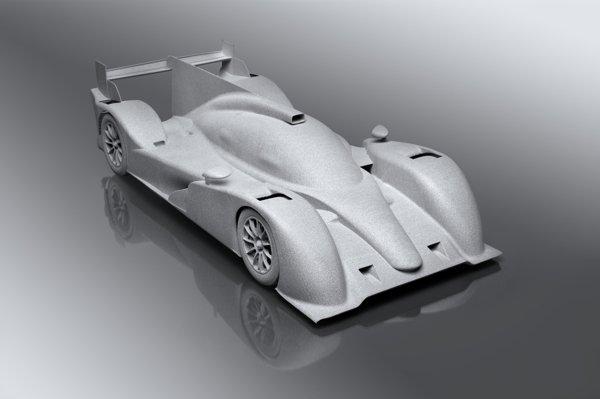 SLS Alumide model of endurance racer
