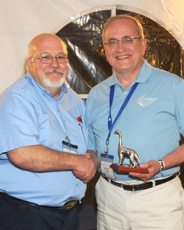 Jim Reitz receives AMUG DINO award