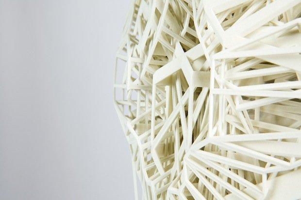 3D-printed column close up