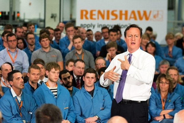David Cameron at Renishaw