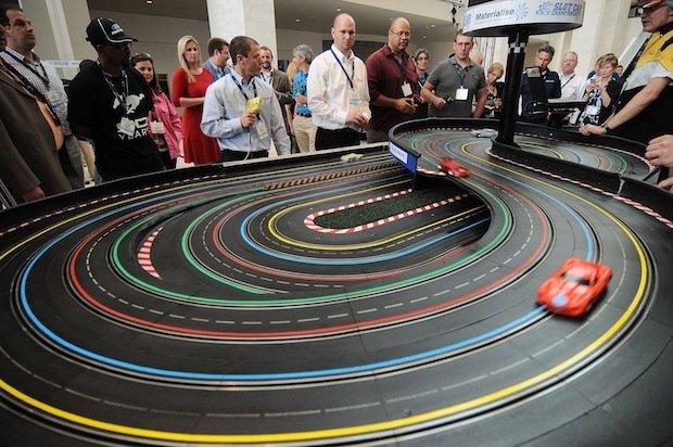 Slot car racing software