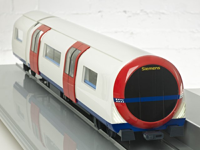 A 1:20 scale model of a new Metro carriage concept